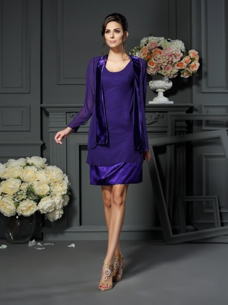 Lange Mouw Chiffon Special Occasion Wrap